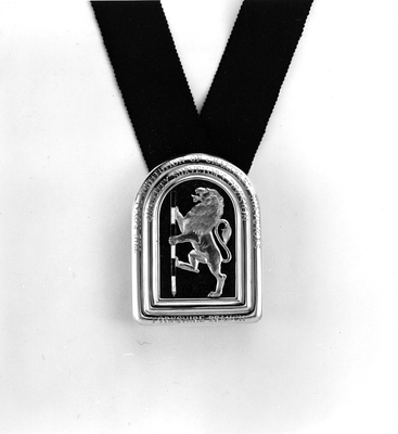 Ceremonial badge for the Institute of Chartered Sureyors