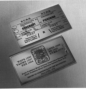 Limited ed. Railway Tickets