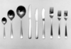 Prototype set of stainless steel cutlery ::
