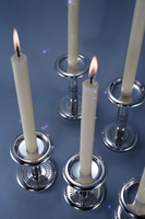 'Bobbin' or 'Spool' Candlesticks