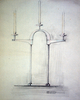 Original design for Newnham College Candelabrum ::