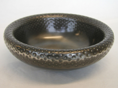 Double skin pewter bowl