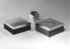 Silver & Wood Boxes with 'Cube' Lighter ::